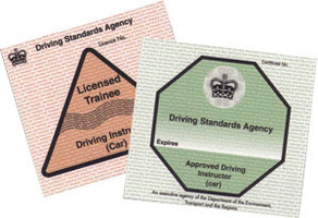 Approved driving instructor certificate and trainee licence